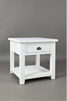 Artisan's Craft End Table - Weathered White