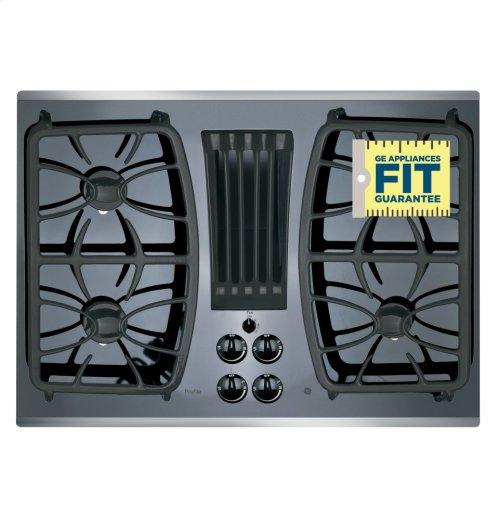 "GE Profile™ Series 30"" Built-In Gas Downdraft Cooktop"