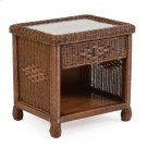 Wicker 1 Drawer Nightstand Coffee Bean 3731 Product Image