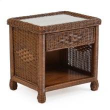 Wicker 1 Drawer Nightstand Coffee Bean 3731