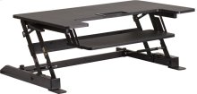 HERCULES Series 36.25''W Black Sit / Stand Height Adjustable Desk with Height Lock Feature and Keyboard Tray