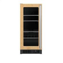 """15"""" Custom Panel Beverage Center - DFUR (Left Hinge Clear Door, Black interior)"""