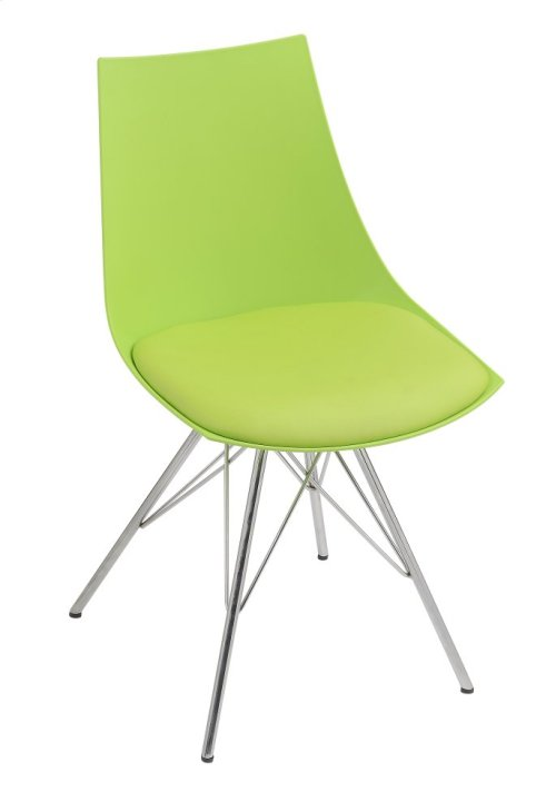 Emerald Home Audrey Dining Chair Green Seat-chrome Base D119chr-32-08