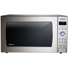 Luxury-Full Size 2.2 Cu. Ft. Genius Prestige Countertop/Built-In Microwave Oven with Inverter Technology, Stainless NN-SD987SB