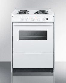 """24"""" Wide Slide-in Electric Range In White With Oven Window, Light, and Lower Storage Compartment; Replaces Wem619rw/wem610wrt"""