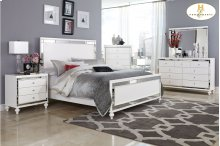 HOMELEGANCE 1845-1-9 Alonza Queen Bed, Dresser, Mirror, Night Stand & Chest Group