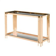 2-tier Gold/glass Console Table, Kd