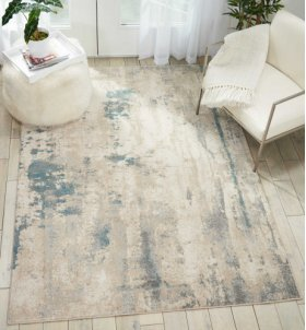 MAXELL MAE17 IVORY/TEAL RECTANGLE RUG 7'10'' x 10'6''