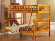 Woodland Bunk Bed Twin over Full in Caramel Latte
