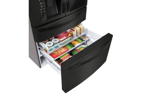 LG Matte Black Stainless Steel 23 cu. ft. InstaView Door-in-Door® Counter-Depth Refrigerator