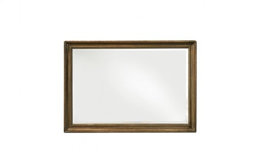 Continental Landscape Mirror - Weathered Nutmeg