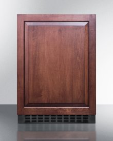 Outdoor All-refrigerator for Built-in Use, With Digital Thermostat, Panel-ready Door, and Black Cabinet