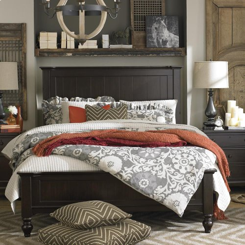 King/Dark Molasses Wakefield Panel Bed