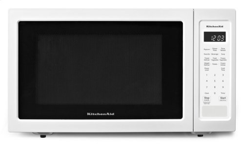 "21 3/4"" Countertop Microwave Oven with PrintShield Finish - 1200 Watt - White"