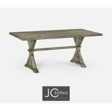 "72"" Solid Rustic Grey Dining Table"