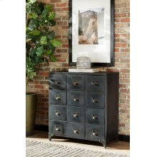 Industrial Black Accent Cabinet