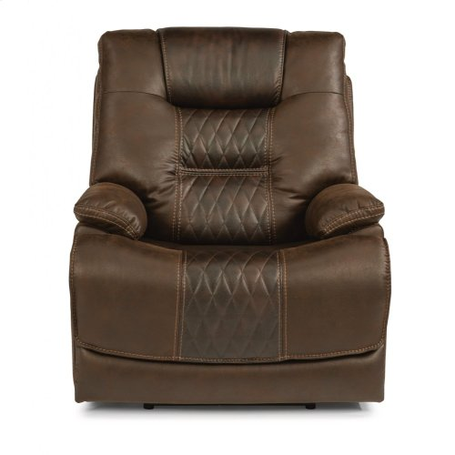 Dakota Fabric Power Recliner with Power Headrest