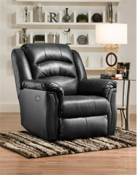 Leather Big-Man Wall Hugger with Power Headrest