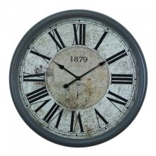 Circula wall clock with glass