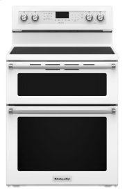 30-Inch 5 Burner Electric Double Oven Convection Range - White Product Image