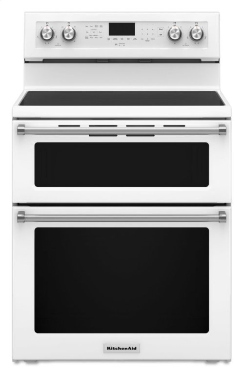 30-Inch 5 Burner Electric Double Oven Convection Range - White