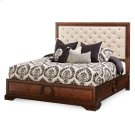 Queen Panel Bed W/fabric Tufted Headboard Product Image