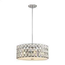 Tessa 5-Light Chandelier in Polished Chrome with Clear Crystal