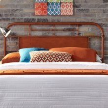 Queen Metal Headboard - Orange