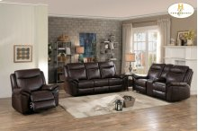 Double Glider Reclining Love Seat with Center Console and Receptacles