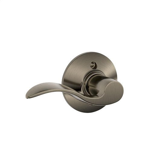 Accent Lever Non-turning Lock - Antique Pewter