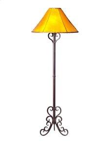 Iron Floor Lamp W/Scroll Base No Shade