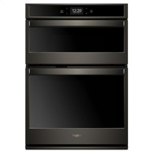 Whirlpool(R) 6.4 cu. ft. Smart Combination Wall Oven with Touchscreen - Black Stainless - BLACK STAINLESS