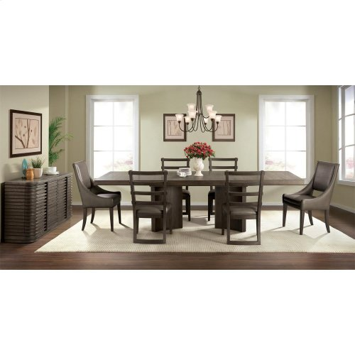 Precision - Pedestal Dining Table Top - Umber Finish