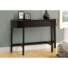 """ACCENT TABLE - 48""""L / CAPPUCCINO WITH A STORAGE DRAWER"""