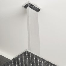 Ceiling-mount rectangular shower arm with flange.