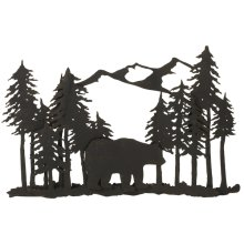 Layered Bear in Forest Wall Decor