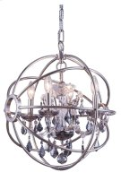 "1130 Geneva Collection Chandelier D:17"" H:19.5"" Lt:4 Polished nickel Finish (Royal Cut Silver Shade Crystals) Product Image"