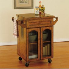 """Noble Oak"" Kitchen Cart"