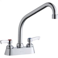 "Elkay 4"" Centerset with Exposed Deck Faucet with 8"" High Arc Spout 2"" Lever Handles Chrome"