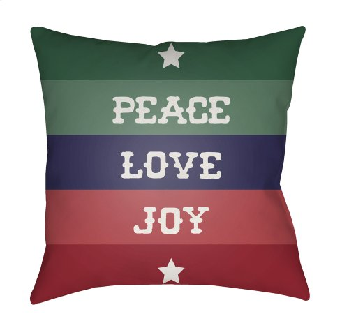 "Peace Love Joy HDY-079 18"" x 18"""