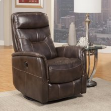 Gemini Truffle Power Swivel Glider Recliner with Articulating Headrest and built-in battery pack