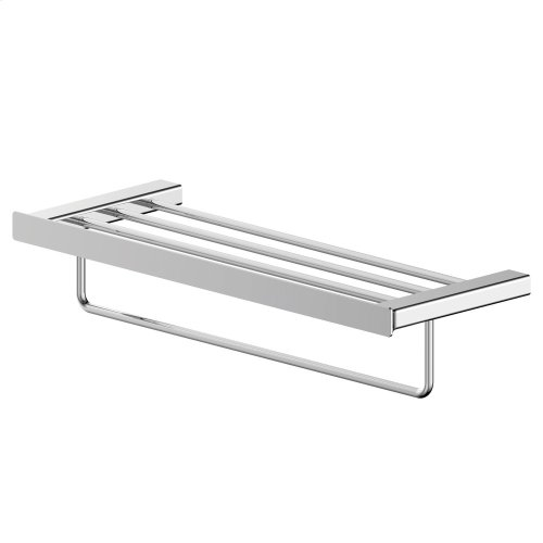 Contemporary Towel Rack - Projects Model - Polished Chrome