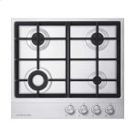 "Fisher & Paykel24"" 4 Burner Gas on Steel Cooktop"