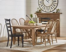 Leaf Carved Dining Table Setting