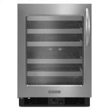 KitchenAid® 24'' Wine Cellar, Left-Hand Door Swing, Architect® Series II - Stainless Steel