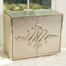 Scroll Two-Door Cabinet-Silver Product Image