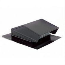 "Roof Cap, Black, Up to 6"" Round Duct"