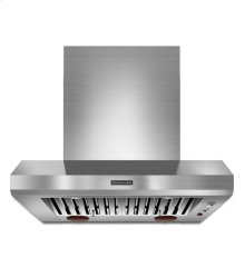 KitchenAid® 36'' Wall-Mount 600-1200 CFM Canopy Hood, Commercial-Style - Stainless Steel