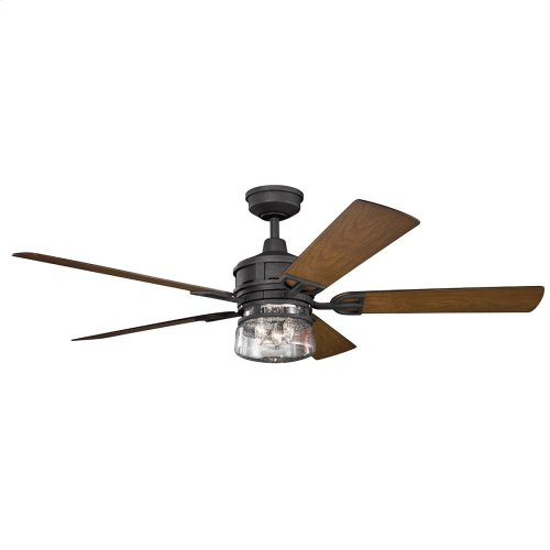 "Lyndon Patio 60"" Fan Distressed Black"