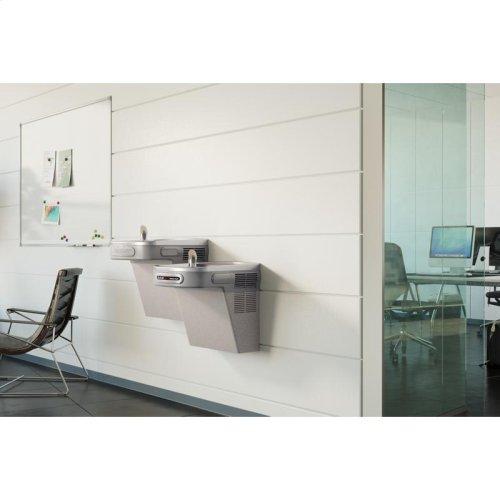 Elkay Versatile Cooler Wall Mount Bi-Level ADA Hands-Free, Non-Filtered 8 GPH Light Gray Granite